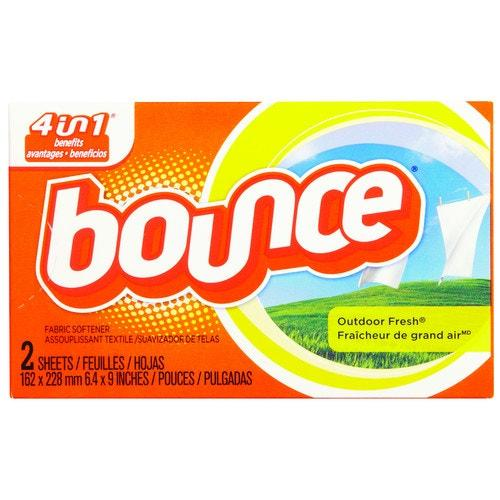 Bounce Fabric Softener Dryer Sheets, 2 Sheets/Box