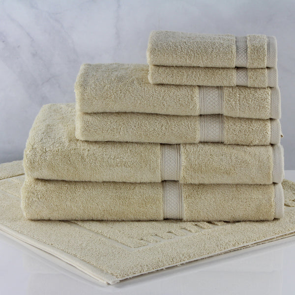 1888 Mills Magnificence 100% Pima Cotton Bath Mat, Linen Color