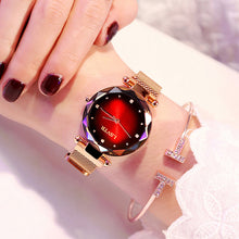 Load image into Gallery viewer, Luxury Rose Gold Women Watches Fashion Diamond Ladies Starry Sky Magnet Watch Waterproof Female Wristwatch For Gift Clock 2019 - Bidwatch