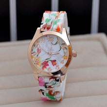 Load image into Gallery viewer, Fashion Women Watches 2018 luxury brand Rose Flower Silicone Strap Watches Quartz Jelly Sports Watches For Women Girls relogio - Bidwatch