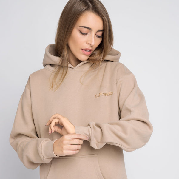 Hoodie Oversized DF Basic Sand