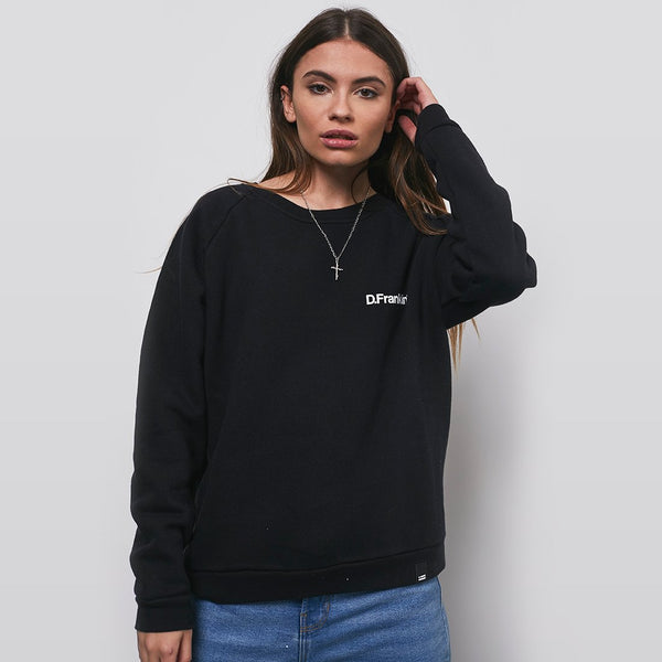 Sweatshirt D.Franklin White / Black