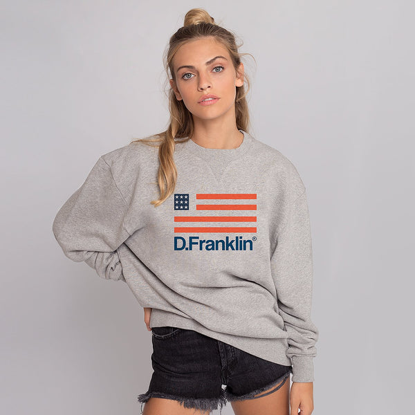 Sweatshirt Oversized Flag Grey