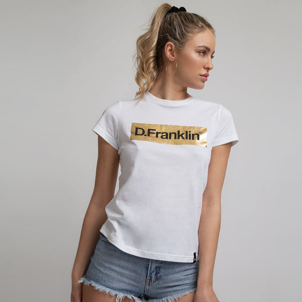T-shirt Mitic D Gold / White