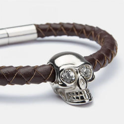 Skull Nut Silver Diamond