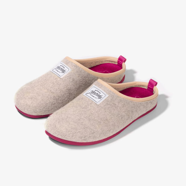 Mercredy Slipper White / Fuxia