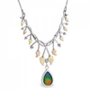 Black Hills Gold Silver Designer Ammolite Necklace
