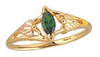 Black Hills Gold Emerald Ring