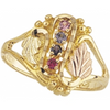 Black Hills Gold Mother's Ring - 1 to 7 stones (G918)
