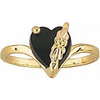 Black Hills Gold Onyx Heart Ring