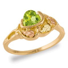 Black Hills Gold Peridot Ring
