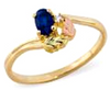 Black Hills Gold Sapphire and Diamond Ring