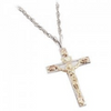Black Hills Gold Silver Crucifix Necklace (MR2712)