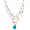 Black Hills Gold Silver Designer Blue Topaz Necklace