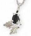 Black Hills Gold Silver Black Onyx Necklace