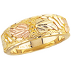 Black Hills Gold Ladies Leaf Wedding Band (G11)