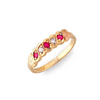 Black Hills Gold Ruby and Diamond Ring (G1272DR)