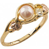 Black Hills Gold Pearl Ring (G1555P)