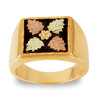 Men's Black Hills Gold Leaf Ring