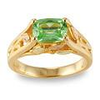 Black Hills Gold Mint Green Sapphire Ring