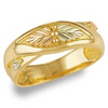 Black Hills Gold Mens Wedding Band (G1775)