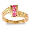 Black Hills Gold Pink Sapphire Ring