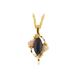 Black Hills Gold Onyx Necklace ( G2264OX)