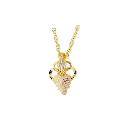 Black Hills Gold or Sterling Silver Heart Necklace (MR2411 / G2411)