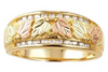 Ladies Black Hills Gold Diamond Band