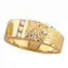 Men's Black Hills Gold Diamond Band