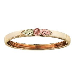 Black Hills Gold Stackable Ring with Center Rose (GL10033)
