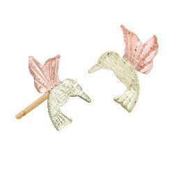 Black Hills Gold Hummingbird Stud Earrings (GLER545)