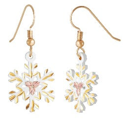 Gold Snow Flake  Earrings (GLER972)