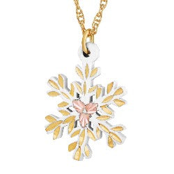 Black Hills Gold Snowflake Necklace (GLPE972)