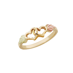 Black Hills Gold Double Heart Ring (2GSD1811)