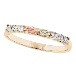 Black Hills Gold CZ Stackable Ring (GL10035)