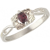 Black Hills Gold Silver Birthstone Ring
