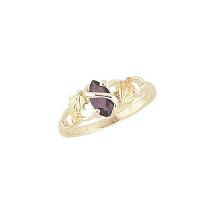 Black Hills Gold Silver Birthstone Ring (MR1419 / G1419)