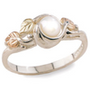 Black Hills Gold Silver Pearl Ring