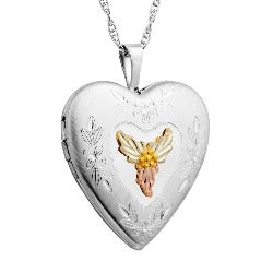 Black Hills Gold or Sterling Silver Heart Picture Locket (G20323 / MR20323)