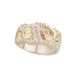Black Hills Gold Sterling Silver Men's / Ladies CZ Band (MR46CZ / MR45CZ)