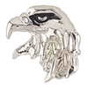 Black HIlls Gold Silver Eagle Head Tie Tack