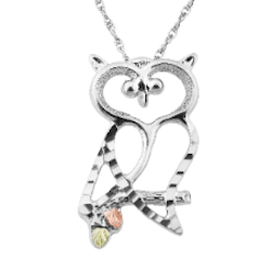 Black Hills Silver Owl Necklace (2MRLPE3100)
