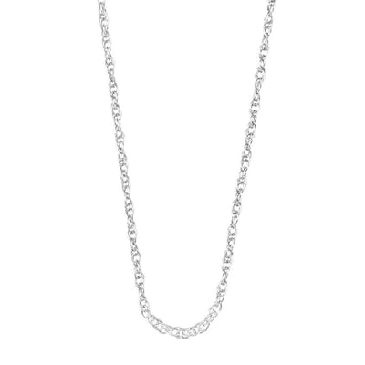 "Silver Elegance-CZ Sterling Silver 18"" Chain Necklace (SESX866)"