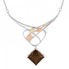 Black Hills Gold Silver Designer Smokey Quartz Necklace