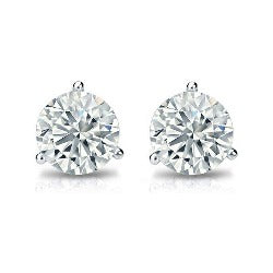 Simply Diamond Stud Earrings Martini Set - 1 CTTW (WHEMT100BFRD)