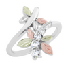 Silver CZ Dragonfly Ring