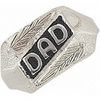 Black Hills Gold Antiqued Silver Dads Ring