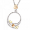 Black Hills Gold Silver Circle Necklace