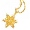 Black Hills Gold Snowflake Necklace